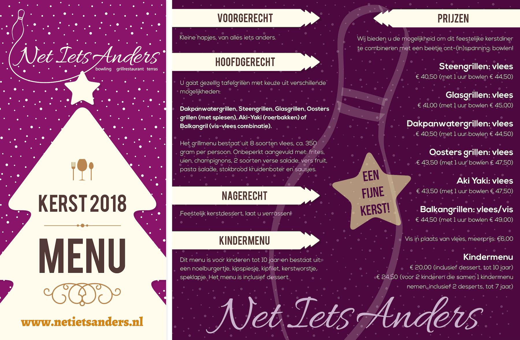 kerstmenu 2018 - Net Iets Anders